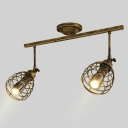 Antique Style 2/3 Heads Spot Light High Brightness Long Life LED Ceiling Light in Aged Bronze for Bar