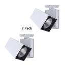 (2 Pack)White/Black Rotatable Track Light High Brightness 1 Head Wireless Light Fixture in White/Warm White