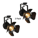 (2 Pack)Angle Adjustable LED Spot Light High Brightness 1 Light Track Lighting in White/Warm White for Hallway Gallery