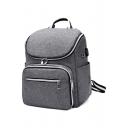 Designer Nylon Plain Backpack Large Capacity Backpack for Women