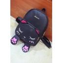 Lovely Cartoon Cat Pattern School Bag Backpack for Girls 24*17*32 CM