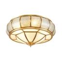Contemporary Flush Ceiling Light Drum Shape 3/4/6 Lights Metal Light Fixture for Shop