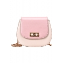 New Fashion Color Block Pearl Embellishment Hasp Crossbody Shoulder Bag 20*8*18 CM