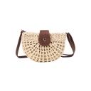 New Fashion Plain Weaving Hobo Crossbody Bag 25*7*17 CM