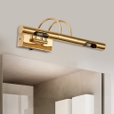 Metal Tube Wall Sconce Study Room Traditional Chrome/Gold Sconce Light in Neutral/White/Warm