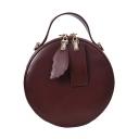 Popular Solid Color Portable Circle Crossbody Shoulder Bag 17*8*17 CM