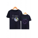 Popular ASTROWORLD PUT ON A HAPPY FACE Printed Basic Round Neck Short Sleeve Graphic Tee