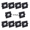 (10 Pack)Angle Adjustable Recessed Light 5/12W Square LED Light Fixture Recessed in White/Warm White for Mall Hotel