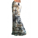 Hot Fashion Unique Tie Dye Printed High Rise Maxi Bodycon Beach Skirt