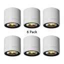 6 Pack Cylinder Shape Down Light 7W Aluminum LED Spot Light with White Lighting for Bedroom Living Room