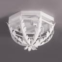 Crown Shape Living Room Ceiling Light Metal 3 Lights Traditional Flush Ceiling Fixture with 4 Color Choice