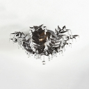 Black/Champagne Gold Flush Mount Light Leaf Shape Clear Crystal 10 Lights Metal Light Fixture for Bedroom Hotel