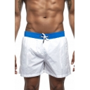 Mens Summer Basic Simple Plain Drawstring Waist Sport Casual Beach Board Shorts