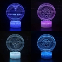 7 Color Changing 3D Night Light Touch Sensor Battery USB Charging Basketball Pattern LED Nursery Nightlight for Girl Boy Bedroom