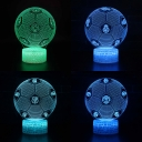 Battery USB Charging LED Illusion Light 7 Color Changeable Football Pattern 3D Night Light with Touch Sensor