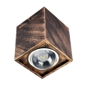 Square Shape LED Flush Mount Light Antique Style Down Light with Adjustable Angle in White/Warm for Living Room