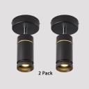 (2 Pack)Wireless Cylinder LED Spot Light White/Black Angle Adjustable High Brightness Ceiling Light for Shop Store