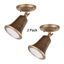(2 Pack)Angel Adjustable Antique Spot Light Bell Shape Wireless LED Ceiling Light in White/Warm for Bedroom