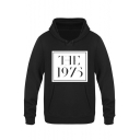Rock Style Square Letter The 1975 Printed Classic Fit Pullover Hoodie