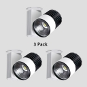 (3 Pack)Angle Adjustable Light Fixture Shop Display Window 1 Head High Brightness LED Track Lighting in White