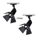 (2 Pack)Angle Adjustable Black/White Ceiling Light Shop 1 Head High Brightness Track Lighting in Warm White/White