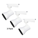 (3 Pack)Angle Adjustable COB Ceiling Light 1 Light High Brightness Rail Track Light in White/Warm White for Stage