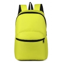 Simple Solid Color Outdoor Leisure Backpack 33*11*39 CM