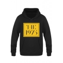 Fashion Rock Style Square Letter THE 1975 Printed Long Sleeve Fitted Hoodie