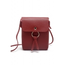 Stylish Solid Color Cell Phone Crossbody Bag 14*6*19 CM