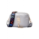 Fashion Letter Strap Hardware Letter Tassel Embellishment Quilted Crossbody Bag 18*7*14 CM