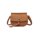 Minimalist Solid Color Crossbody Saddle Bag 20*6*16 CM