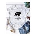 Mama Needs a Mother Effing Nap Print Short Sleeve Cotton Loose T-Shirt