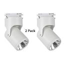 (2 Pack)1 Head Reflector Track Lighting Rotatable Aluminum Black/White LED Spot Light in White/Warm White for Gallery