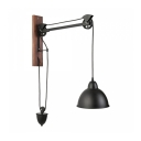 Adjustable Dome Shade Sconce Light Dining Room Single Light Antique Wall Light in Black