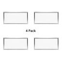 (4 Pack)Slim Panel Light Fixture Recessed 12*48 Inch Rectangle Ceiling Light Recessed in White/Warm White for Dining Room