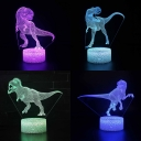 Velociraptor Pattern LED Night Light 7 Color Changing Touch Sensor Nursery Night Lamp for Boy Bedroom Gift