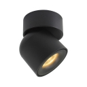 Aluminum Black LED Down Light Angle Adjustable Dome Shape Ceiling Light in Warm/Neutral for Kitchen