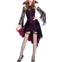 Womens Fancy Halloween Vampire Cosplay Costume Purple Party Dress
