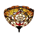 Tiffany Style Sconce Wall Light 1 Light Stained Glass Abstract Pattern Sconce Lamp for Shop