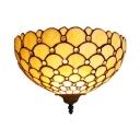 White Cone Sconce Light 1 Light Tiffany Style Glass Sconce Light for Bedroom Foyer