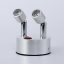 Angle Adjustable Mini Light Fixture Energy Saving Silver Aluminum LED Spot Light for Gallery