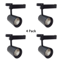 (4 Pack)Cylinder Cloth Shop Ceiling Light Aluminum 1 Light High Brightness Black Track Lighting in White/Warm White
