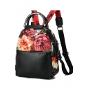 Fashion Floral Printed Nylon Travel Backpack for Women 22*13*27 CM