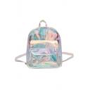 New Fashion Laser Mini Transparent School Bag Backpack 23*8*19 CM
