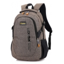 Professional Multi-functional Letter Print Travel Bag School Backpack with Side Pockets 30*15*50 CM