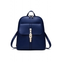 New Trendy Solid Color Leisure Small Backpack for Women 28*13*31 CM