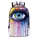 Fashion Creative 3D Eye Printed White School Bag Backpack 31*13*43 CM