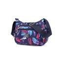Utility Lightweight Printed Large Purple Crossbody Bag for Travel 28*11*21 CM