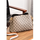 Stylish Printed Wide Striped Strap Large Capacity Crossbody Bucket Bag Shoulder Bag 26*11*18 CM