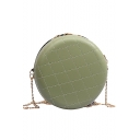 New Stylish Diamond Quilted Round Crossbody Sling Bag for Women 17*6*17 CM